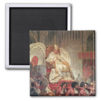 Pope VIII  in St. Peter's on the Sedia Gestatoria Magnet