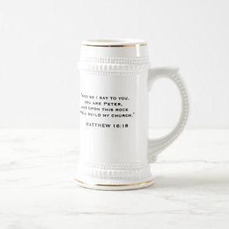 """PopeBenedictXVI, BENEDICT XVI, """"And so I say to... Beer Stein"""