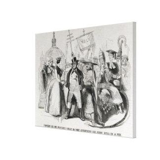 Popery or No Popery? 1850 Canvas Print