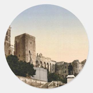 Pope's Castle, Avignon, Provence, France classic P Classic Round Sticker