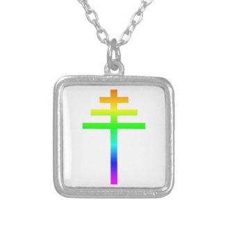Pope's Cross Square Pendant Necklace