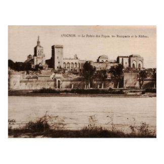 Popes Palace Avignon France 1910 Replica Postcard
