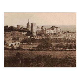 Popes Palace Avignon France 1925 Replica Postcard