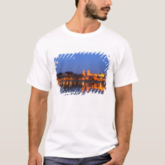 Pope's Palace in Avignon and the Rhone river at T-Shirt