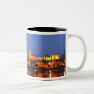 Pope's Palace in Avignon and the Rhone river at Two-Tone Coffee Mug