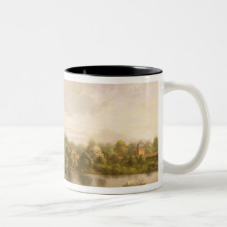 Pope's Villa, Twickenham, c.1765 (oil on canvas) Two-Tone Coffee Mug