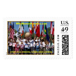 PopeValley Celebrates Who Named America com Postage Stamps