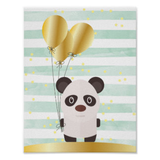 Popey The Panda Childrens Wall Art Poster