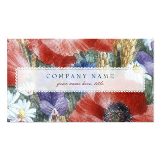 Popies pintado plantilla de tarjeta de negocio