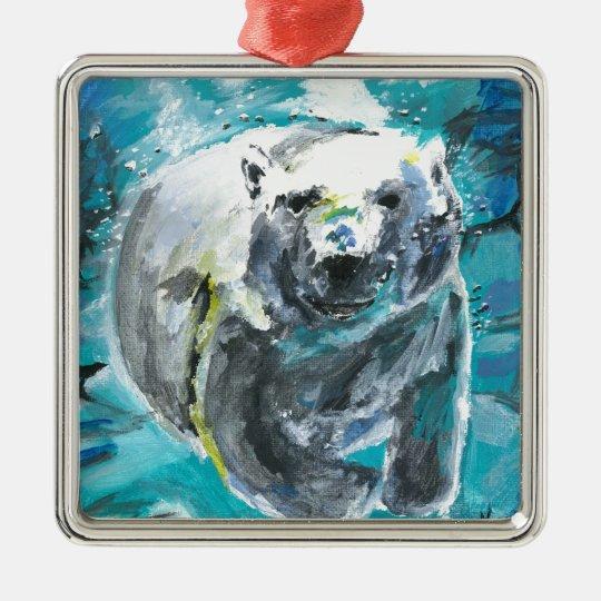 Poplar Bear 1 Metal Ornament