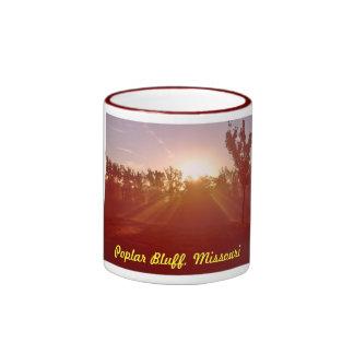 Poplar Bluff Missouri Morning fog Ringer Mug