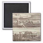 Poplar ranches 2 inch square magnet