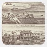 Poplar ranches square sticker