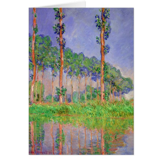Poplar Trees Impressionism by Claude Monet Card