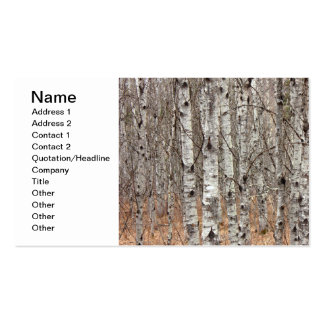 Poplar Woodlot Double-Sided Standard Business Cards (Pack Of 100)