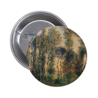 Poplars at Giverny (1888) 2 Inch Round Button