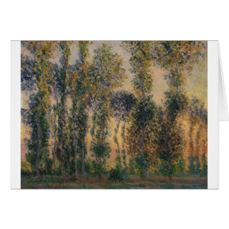 Poplars at Giverny (1888) Cards