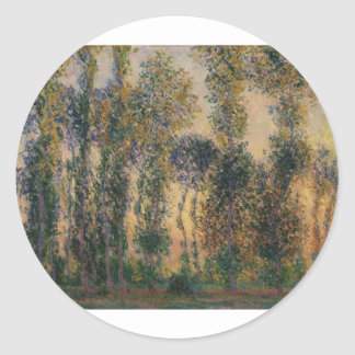 Poplars at Giverny (1888) Classic Round Sticker