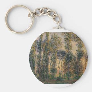 Poplars at Giverny (1888) Keychain
