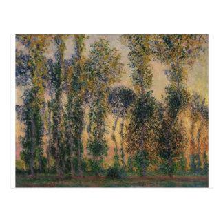Poplars at Giverny (1888) Postcard