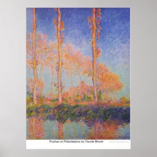 Poplars at Philadelphia by Claude Monet Poster
