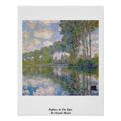 Poplars At The Epte By Claude Monet Posters