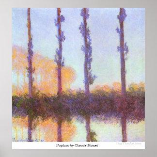 Poplars by Claude Monet Poster