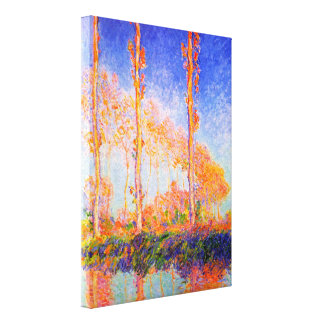 Poplars in the Sun by Claude Monet Canvas Print