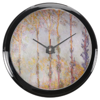 Poplars on the Banks of the Epte, 1891 Fish Tank Clock