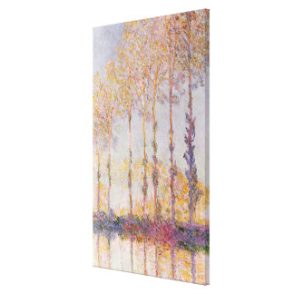 Poplars on the Banks of the Epte, 1891 Canvas Print