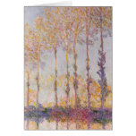 Poplars on the Banks of the Epte, 1891 Greeting Card