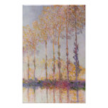 Poplars on the Banks of the Epte, 1891 Poster