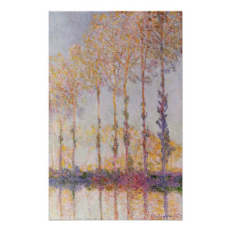 Poplars on the Banks of the Epte, 1891 Posters