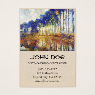 Poplars on the Banks of the River Epte Monet Business Card