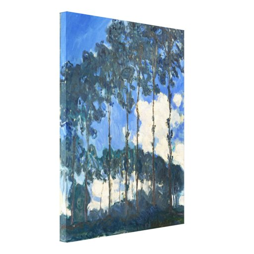 Poplars on the Banks of the River Epte - Monet Canvas Print