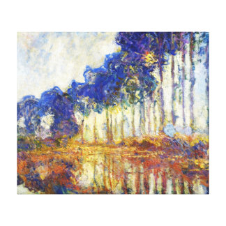 Poplars on the Banks of the River Epte Monet Canvas Print