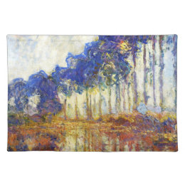 Poplars on the Banks of the River Epte Monet Placemat