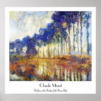 Poplars on the Banks of the River Epte Monet Poster