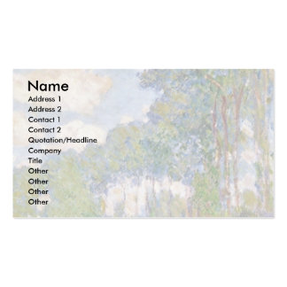 Poplars On The Epte By Claude Monet Double-Sided Standard Business Cards (Pack Of 100)