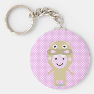 Popo hippo keychain
