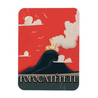 Popocatépetl Volcano Travel Poster Magnet