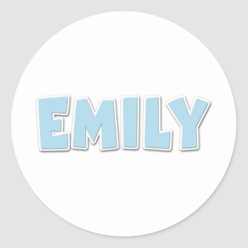 Popout del azul de Emily Pegatina Redonda