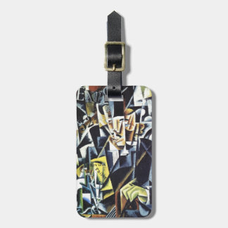 Popova's art custom luggage tag