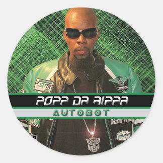 Popp Da Rippa-Autobot Classic Round Sticker