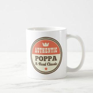 Poppa auténtico una obra clásica real tazas de café