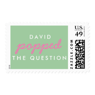 Popped the Question Wedding, Save the Date Stamp