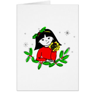 Poppet and the Golden Pinecone Greeting Card