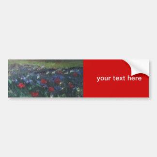 poppie field bumper sticker