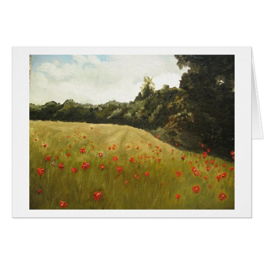 Poppie field in Muhumaa, Estonia Card
