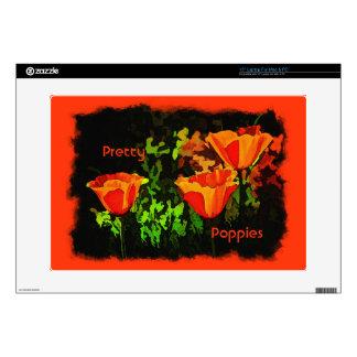 "Poppies 15"" Laptop Decals"